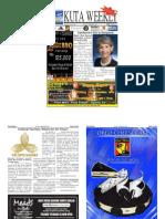 "Kuta Weekly-Edition 377 ""Bali's Premier Weekly Newspaper"""