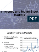 Efficiency in Indian Stock Markets