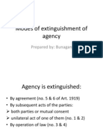Modes of Extinguishment of Agency
