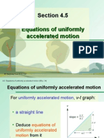 Section 4.5 Equations of Uniformly Accelerated Motion