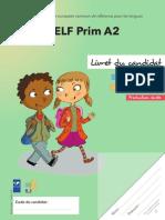 Exemple Sujet Delf Prim a2 Livret Du Candidat Copy