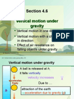 Section 4.6 Vertical Motion Under Gravity