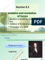 Section 5.3 Addition and Resolution of Forces