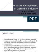 Maintenance Management in Garment Industry