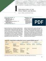 Abnormalities of the Optic Nerve and Rretina