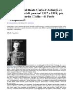 Precisazioni Sul Beato Carlo dAsburgo e i Suoi Tentativi Di Pace Nel 1917 e 1918