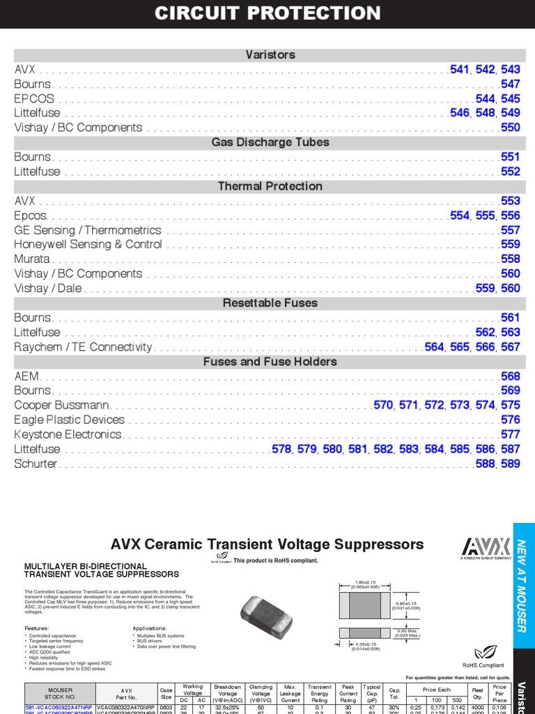 LITTELFUSE TMOV20RP300M TMOV Series 517 VDC 300V RMS 775 V Clamp 10000 A 800 pF Radial Lead Varistor s 10 item