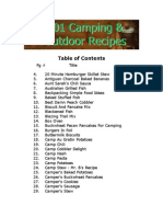 Camping and Outdoor Recipes