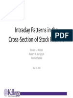 Intraday Patterns in the Cross ‐ Section of Stock Returns