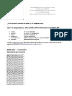 Ucsc-International-HYGO TOEFL Corso 2013-14 II Sem