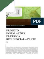 PROJETO INSTALAÇÕES ELÉTRICA RESIDENCIAL – PARTE 3