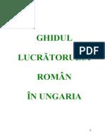 Ghidul lucratorului roman in ungaria
