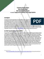 Curriculum Guide for MTBMLE
