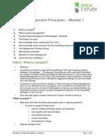 Project Management Module 1 Script