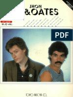 Book - Hall & Oates - Daryl Hall & Jhon Oates (Keyboard Transcriptions)