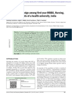HIV AIDS Knowledge Awareness Perception amongst first year students Medical Nursing Pharmacy