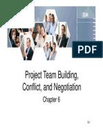 Project Team Building, Conflict Negotiation