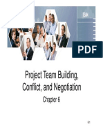 Project Team Building, Conflict Negotiation