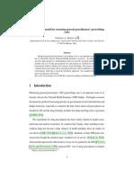 An actuarial model for assessing general practictioner prescribing costs