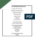 Student Info Bulletin 2012-2013