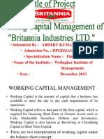 Wroking Capital Management of Britannia Industries