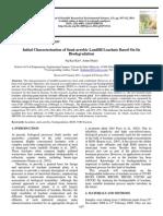 Initial Characterization of Semi-aerobic Landfill Leachate Based On Its Biodegradation