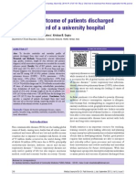 Pattern and outcome of patients discharged