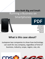 Running a Business on Smartphones