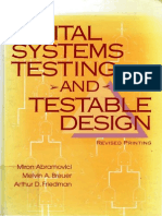 Digital Systems Testing and Testable Design