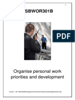 BSBWOR301B Organise Personal Work Priorities and Development - Reading Material