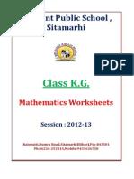 K.G. Mathematics-Worksheets Session 2012 2013