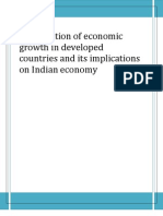Deceleration of Economic Growth in Developed Countries and Its Implications on Indian Economy