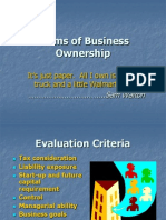 Forms of Business Ownership1040