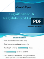 Calcium Significance & Regulation