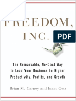 Freedom Inc. by Brian M. Carney and Isaac Getz - Excerpt