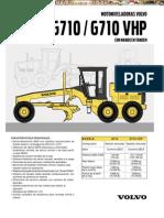 Catalogo Motoniveladoras g710 g710 Vhp Volvo