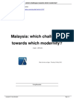 Malaysia Which Challenges Towards Which Modernity