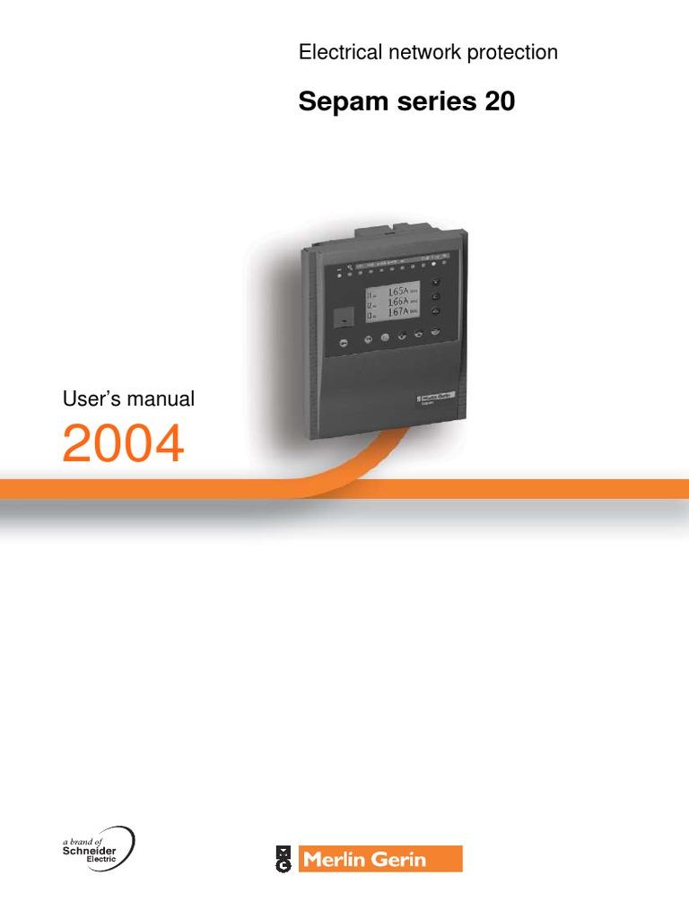 User Manual Sepam 20 1 Relay Electrical Substation Basic Operation Idmt
