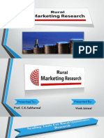 Rural Marketing Research