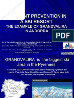 Accident prevention in a ski resort, the example of Grandvalira Andorra