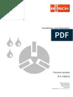 O&M Manuals_Process Vacuum Pumps