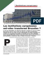 Enquête Institutions européennes
