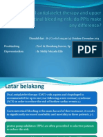 Dual Antiplatelet Therapy and Upper Gastrointestinal Bleeding Risk Do PPIs Make Any Difference