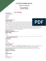 Gulfood Exhibitor List-  2