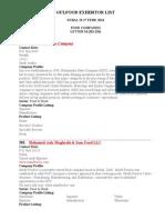 Gulfood Exhibitor List M-5
