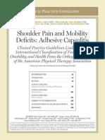 Shoulder Guidelines AdhesiveCapsulitis JOSPT May 2013