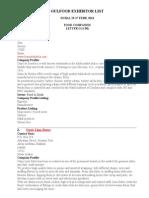 Gulfood Exhibitor List- o 1