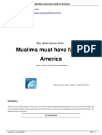 Muslims Must Have Faith in America