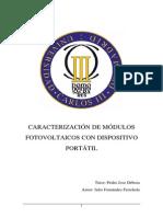 Carecterizacion de Modulos Fotovoltaicos
