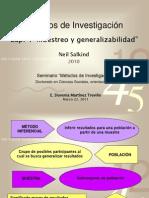 Muestreo y Generalizabilidad